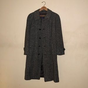 Burberry Irish Tweed Wool Coat